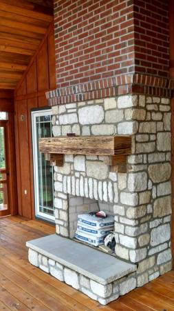 Fireplace completed by Sharp Masonry